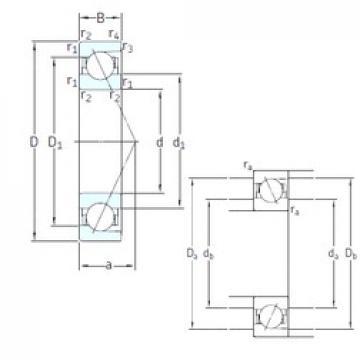 90 mm x 160 mm x 30 mm  SNFA E 290 7CE3 angular contact ball bearings