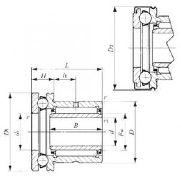 40 mm x 58 mm x 20 mm  40 mm x 58 mm x 20 mm  IKO NAXI 4032Z complex bearings