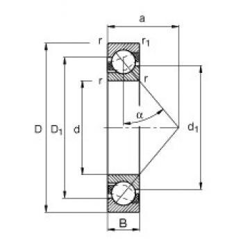 120 mm x 260 mm x 55 mm  120 mm x 260 mm x 55 mm  FAG 7324-B-TVP angular contact ball bearings