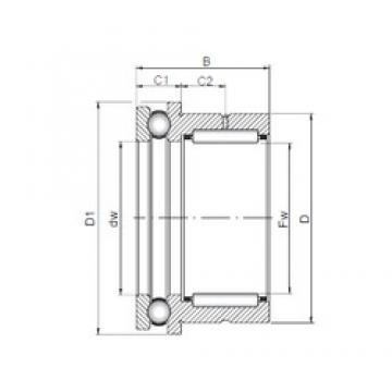 35 mm x 47 mm x 30 mm  35 mm x 47 mm x 30 mm  ISO NKX 35 complex bearings