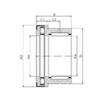 45 mm x 58 mm x 32 mm  45 mm x 58 mm x 32 mm  ISO NKXR 45 Z complex bearings