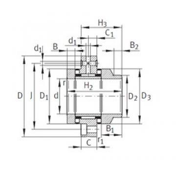 55 mm x 145 mm x 17,5 mm  55 mm x 145 mm x 17,5 mm  INA ZARF55145-L-TV complex bearings