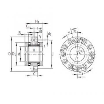 45 mm x 105 mm x 11,5 mm  45 mm x 105 mm x 11,5 mm  INA ZARF45105-TV complex bearings