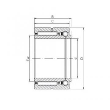 12 mm x 24 mm x 16 mm  12 mm x 24 mm x 16 mm  ISO NKIB 5901 complex bearings