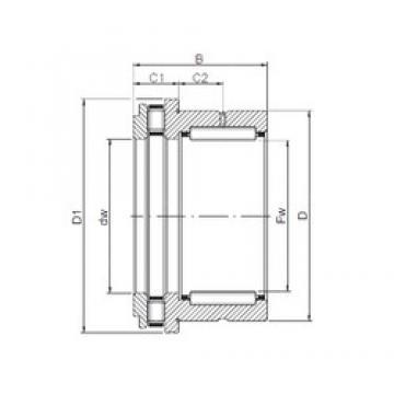 40 mm x 52 mm x 32 mm  40 mm x 52 mm x 32 mm  ISO NKXR 40 complex bearings