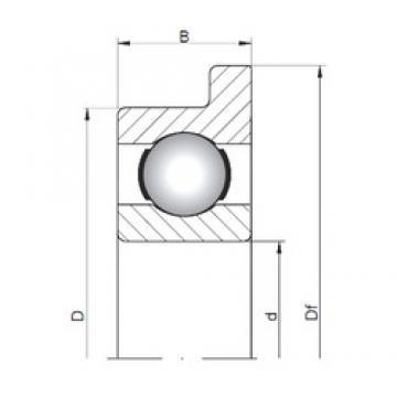 2,5 mm x 8 mm x 2,8 mm  2,5 mm x 8 mm x 2,8 mm  ISO FL60/2,5 deep groove ball bearings