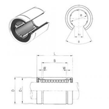 25 mm x 40 mm x 41 mm  25 mm x 40 mm x 41 mm  Samick LM25UUOP linear bearings