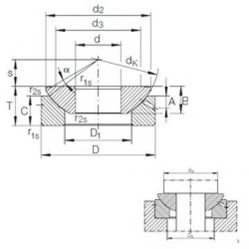 140 mm x 260 mm x 61 mm  140 mm x 260 mm x 61 mm  INA GE 140 AX plain bearings