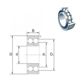 35 mm x 80 mm x 34,9 mm  ZEN S5307-2RS angular contact ball bearings