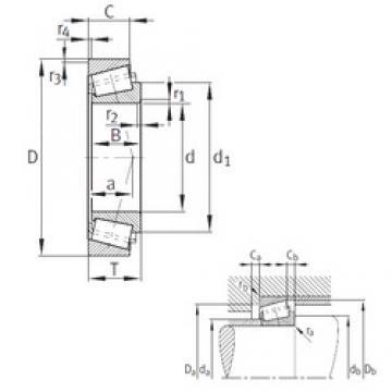 160 mm x 240 mm x 51 mm  160 mm x 240 mm x 51 mm  FAG 32032-X tapered roller bearings