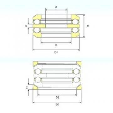 45 mm x 90 mm x 10 mm  45 mm x 90 mm x 10 mm  ISB 54211 U 211 thrust ball bearings