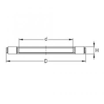 NKE K 81132-MB thrust roller bearings