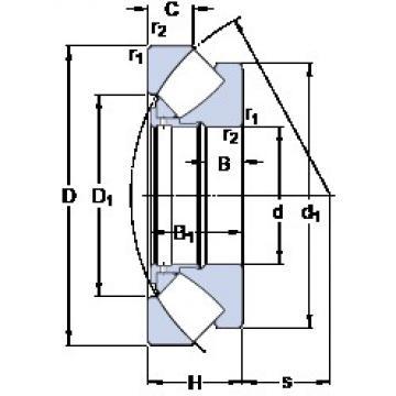 420 mm x 650 mm x 49 mm  SKF 29384 thrust roller bearings
