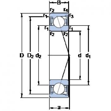 65 mm x 90 mm x 13 mm  SKF S71913 ACD/P4A angular contact ball bearings
