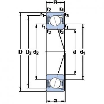 90 mm x 140 mm x 24 mm  SKF S7018 CD/P4A angular contact ball bearings