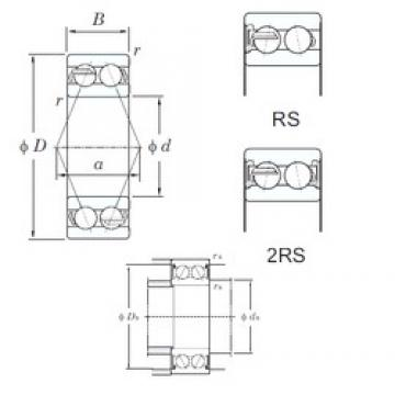 55 mm x 120 mm x 49.2 mm  KOYO 5311-2RS angular contact ball bearings