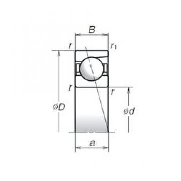 8 mm x 24 mm x 8 mm  NSK 728A angular contact ball bearings