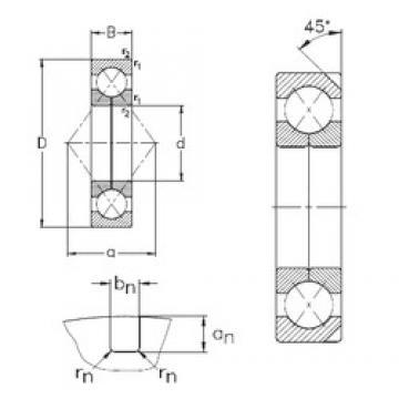 180 mm x 380 mm x 75 mm  NKE QJ336-N2-MPA angular contact ball bearings