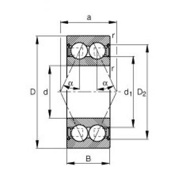 12 mm x 28 mm x 12 mm  FAG 3001-B-2Z-TVH angular contact ball bearings