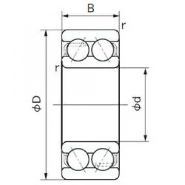 65 mm x 120 mm x 38.1 mm  65 mm x 120 mm x 38.1 mm  NACHI 5213 angular contact ball bearings