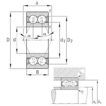 30 mm x 72 mm x 30,2 mm  30 mm x 72 mm x 30,2 mm  FAG 3306-B-2RSR-TVH angular contact ball bearings