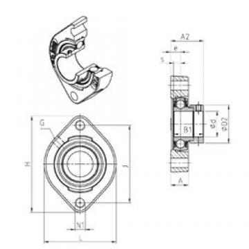 SNR ESFD207M100 bearing units