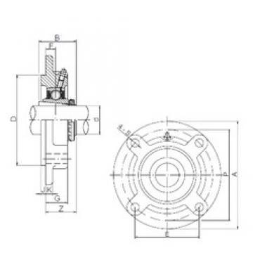 35 mm x 100 mm x 46 mm  35 mm x 100 mm x 46 mm  ISO UKFC208 bearing units