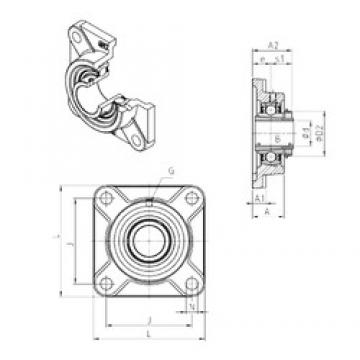 SNR UKF208H bearing units