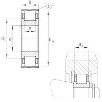 FAG RN315-E-MPBX cylindrical roller bearings