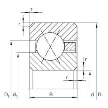 5 1/2 inch x 177,8 mm x 19,05 mm  5 1/2 inch x 177,8 mm x 19,05 mm  INA CSXF055 deep groove ball bearings