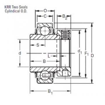 12,7 mm x 40 mm x 27,78 mm  12,7 mm x 40 mm x 27,78 mm  Timken 1008KRR deep groove ball bearings