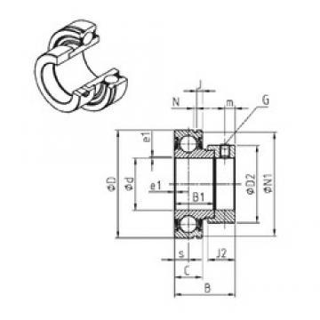 30 mm x 62 mm x 35,7 mm  30 mm x 62 mm x 35,7 mm  SNR CES206 deep groove ball bearings