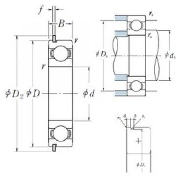 65 mm x 90 mm x 13 mm  65 mm x 90 mm x 13 mm  NSK 6913NR deep groove ball bearings