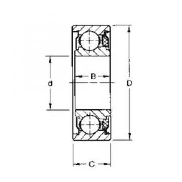 8 mm x 22 mm x 9,8 mm  8 mm x 22 mm x 9,8 mm  Timken 38KTD deep groove ball bearings