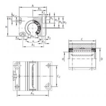 INA KGNO 50 C-PP-AS linear bearings