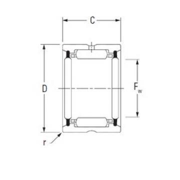 KOYO HJ-405228,2RS needle roller bearings
