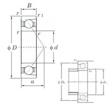 55 mm x 100 mm x 21 mm  55 mm x 100 mm x 21 mm  KOYO 7211C angular contact ball bearings
