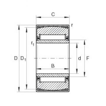 22 mm x 44 mm x 20 mm  22 mm x 44 mm x 20 mm  INA PNA22/44 needle roller bearings