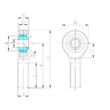 LS SA17ET-2RS plain bearings