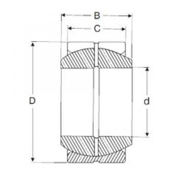 120 mm x 180 mm x 85 mm  120 mm x 180 mm x 85 mm  SIGMA GE 120 ES plain bearings