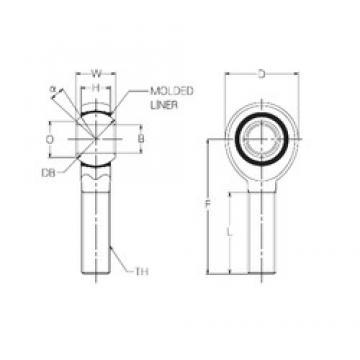 10 mm x 26 mm x 10 mm  10 mm x 26 mm x 10 mm  NMB RBM10E plain bearings