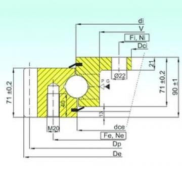 ISB EBL.30.1455.201-2STPN thrust ball bearings