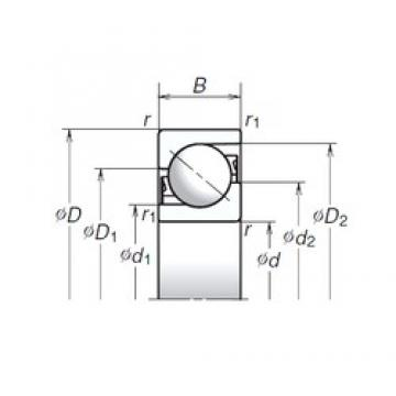 50 mm x 110 mm x 27 mm  50 mm x 110 mm x 27 mm  NSK 50TAC03AT85 thrust ball bearings