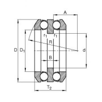 75 mm x 155 mm x 19 mm  75 mm x 155 mm x 19 mm  FAG 54318 thrust ball bearings