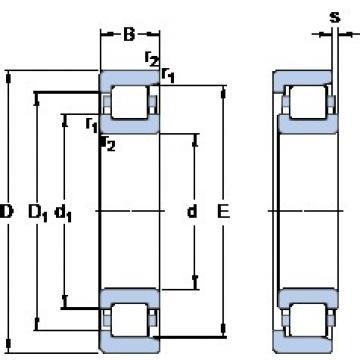 600 mm x 800 mm x 90 mm  600 mm x 800 mm x 90 mm  SKF NF 19/600 ECMB thrust ball bearings