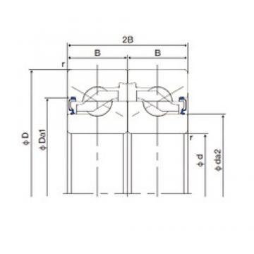 20 mm x 47 mm x 15 mm  20 mm x 47 mm x 15 mm  NACHI 20TAB04DF-2LR thrust ball bearings