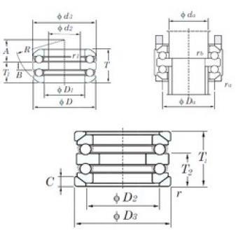 KOYO 54317U thrust ball bearings