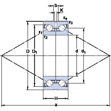 SKF BEAS 030062-2RS thrust ball bearings