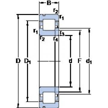 45 mm x 100 mm x 25 mm  45 mm x 100 mm x 25 mm  SKF NUP 309 ECNP thrust ball bearings