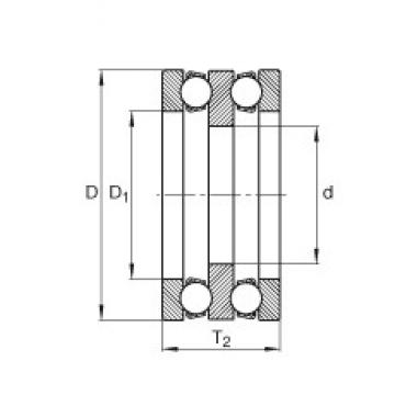 INA 195X02 thrust ball bearings